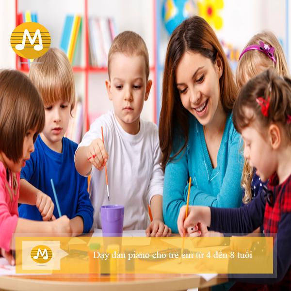 Dạy đàn piano cho trẻ em từ 4 đến 8 tuổi