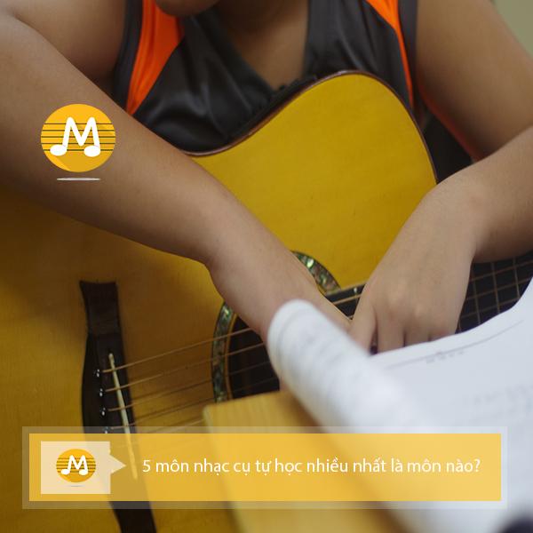 4 môn nhạc cụ tự học nhiều nhất là môn nào?