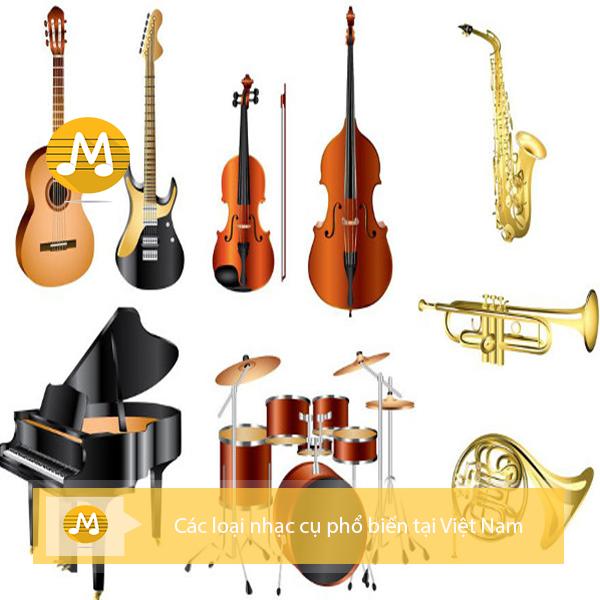 Các loại nhạc cụ phổ biến tại Việt Nam