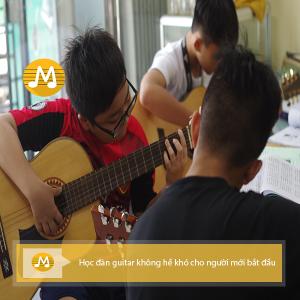 Học đàn guitar không hề khó cho người mới bắt đầu