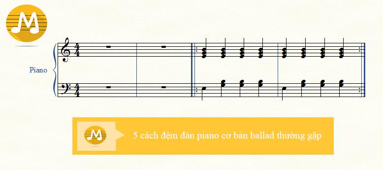 5 cách đệm đàn piano cơ bản ballad thường gặp